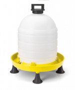 15Ltr Poultry Drinker With Handle Cap & Legs (Yellow)