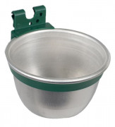 Aluminium Feed/Drinking Bowl for Cage (multi buy 25 off)