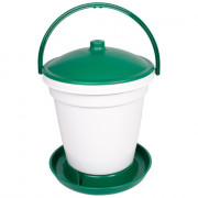 18Ltr Bucket Poultry Drinker with handle (Green)