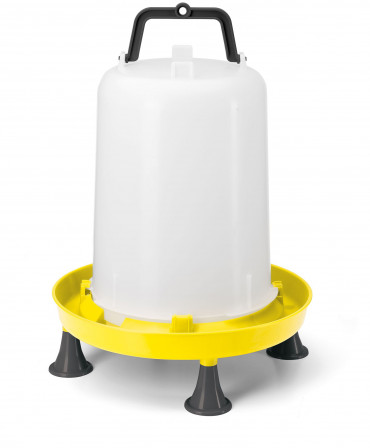 Yellow 15ltr drinker with handle & Legs