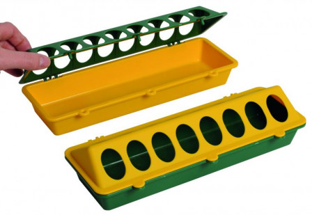 30cm Plastic Trough Feeder with Access Holes
