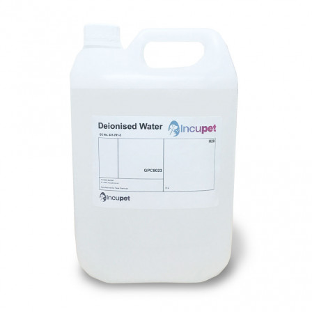 Incupet Deionised Water for Incubators 5L
